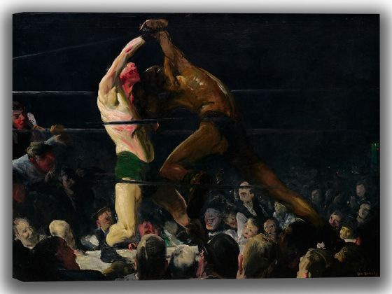 Bellows, George Wesley: Both Members of This Club. Fine Art Boxing Canvas. Sizes: A4/A3/A2/A1 (004048)